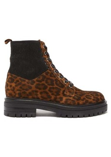 Gianvito Rossi Martis leopard-print suede ankle boots