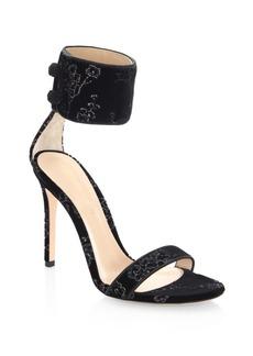 Gianvito Rossi Mekong Velvet Ankle-Strap Slingback Sandals