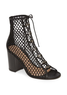 Gianvito Rossi Mesh Lace-Up Bootie (Women)