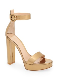 Gianvito Rossi Metallic Ankle Strap Sandal (Women)