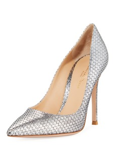 Gianvito Rossi Metallic Woven High-Heel Pumps