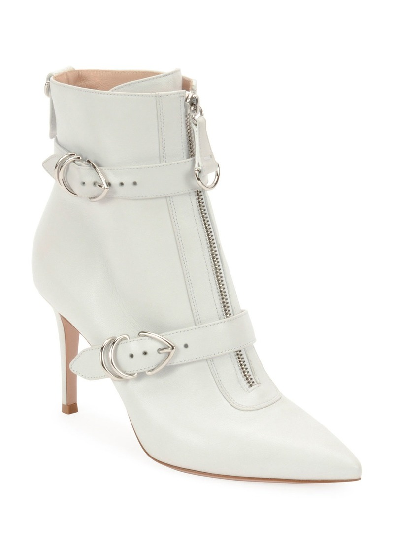 d2ff7e6a32d58 Gianvito Rossi Gianvito Rossi Napa Buckled Zip-Front Ankle Booties ...