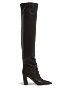 Gianvito Rossi Nappa 85 block-heel leather boots