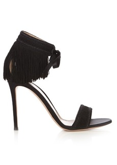 Gianvito Rossi Olivia fringed satin sandals