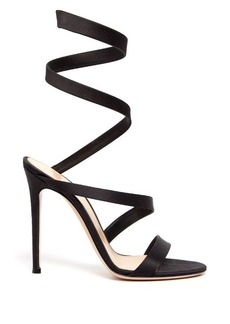 Gianvito Rossi Opera wraparound satin sandals