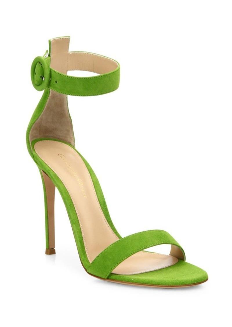 Gianvito Rossi Portofino Suede Ankle-Strap Sandals