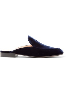 Gianvito Rossi Palau velvet slippers