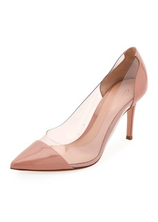 Gianvito Rossi Patent and Plexi Pumps
