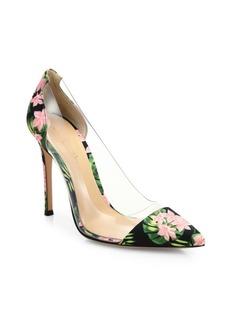 Gianvito Rossi Plexi & Floral Pumps