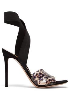 Gianvito Rossi Plexi 105 leopard-print sandals