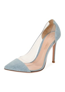 Gianvito Rossi Plexi Denim Illusion 105mm Pump