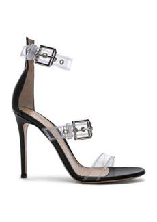 Gianvito Rossi Plexi Gabby Strap Heels