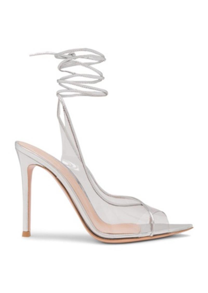 Gianvito Rossi Plexi Nappa Silk Strappy Heels