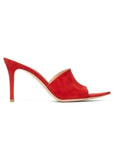 Gianvito Rossi Point-toe 85 suede mules