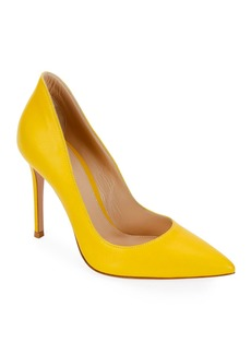 Gianvito Rossi Pointed Smooth Leather Pumps