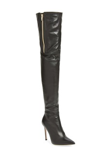 Gianvito Rossi Pointed Toe Over the Knee Boot (Women)