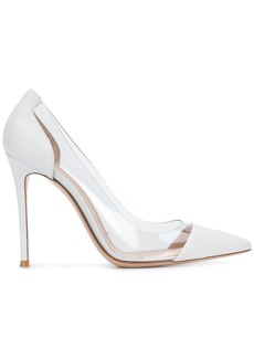 Gianvito Rossi pointed toe stiletto pumps - White