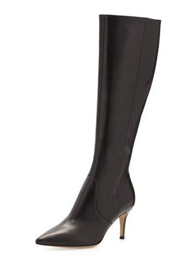 Gianvito Rossi Pointy Low-Heel Knee Boot