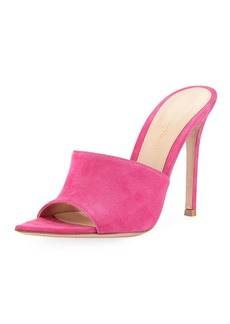 Gianvito Rossi Pointy One-Band Suede Mule Sandal