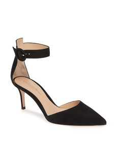 Gianvito Rossi Pointy Toe Ankle Strap Pump (Women)