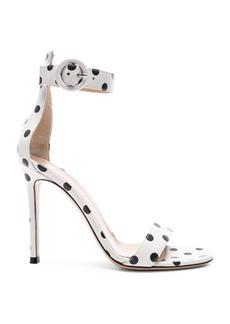 Gianvito Rossi Polka Dot Leather Portofino Sandals