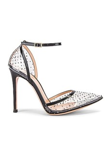 Gianvito Rossi Polka Dots Ankle Strap Heels