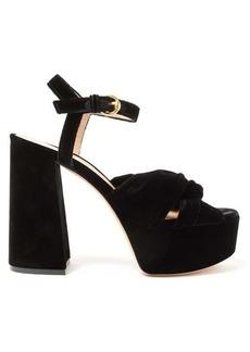 Gianvito Rossi Poppy 70 knotted velvet platform sandals