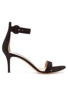 Gianvito Rossi Portofino 70 ankle-strap suede sandals
