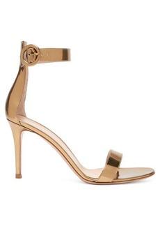 Gianvito Rossi Portofino 85 metallic-leather sandals