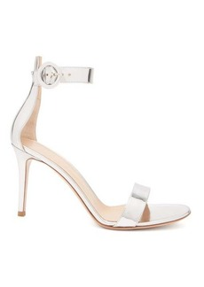 Gianvito Rossi Portofino 85 mirrored-leather sandals