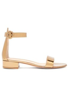 Gianvito Rossi Portofino block-heel metallic sandals
