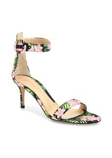 Gianvito Rossi Portofino Floral Ankle-Strap Sandals