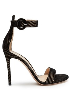 Gianvito Rossi Portofino striped suede sandals