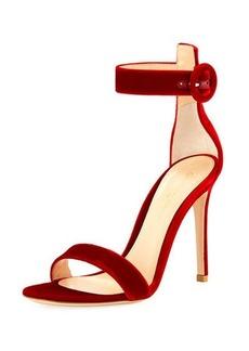 Gianvito Rossi Portofino Velvet 105mm Sandal