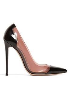 Gianvito Rossi PVC-panel 105 patent-leather pumps