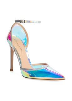 Gianvito Rossi Reflective Ankle Strap Pump (Women)