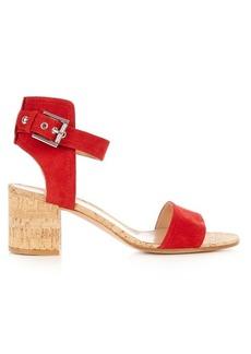 Gianvito Rossi Rikki cork block-heel sandals