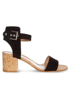 Gianvito Rossi Rikki cork block-heel sandals