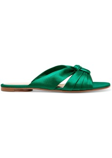 Gianvito Rossi Knotted satin slides
