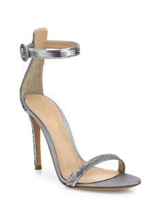 Gianvito Rossi Sequin Ankle-Strap Sandals