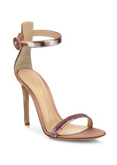 Gianvito Rossi Sequin Ankle-Strap Sandals