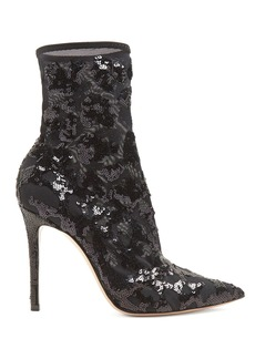 Gianvito Rossi Sequin-embellished 105 ankle boots