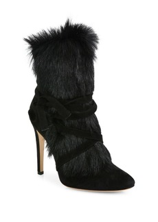 Gianvito Rossi Shearling Fur & Suede Booties