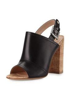 Gianvito Rossi Sierra Leather Slingback Sandal