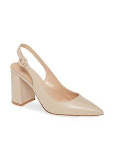 Gianvito Rossi Slingback Block Heel Pump (Women)