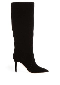 Gianvito Rossi Slouchy 85 knee-high velvet boots