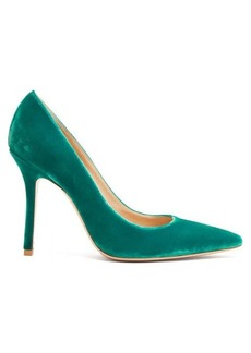 Gianvito Rossi Square-toe 105 velvet pumps