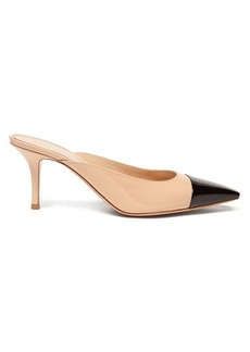 Gianvito Rossi Square-toe 70 patent-leather mules