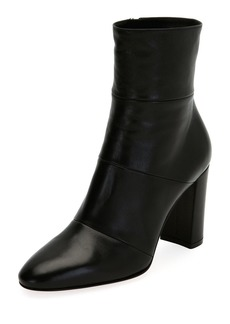 Gianvito Rossi Stitched Leather Block-Heel Boot