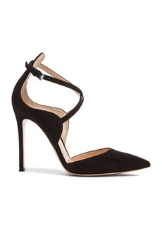 Gianvito Rossi Strappy Pointed Suede Heels